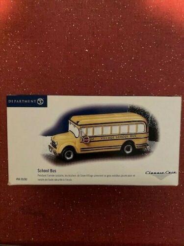 DEPT 56 SNOW VILLAGE Accessory SCHOOL BUS w/Rubber Tires NIB