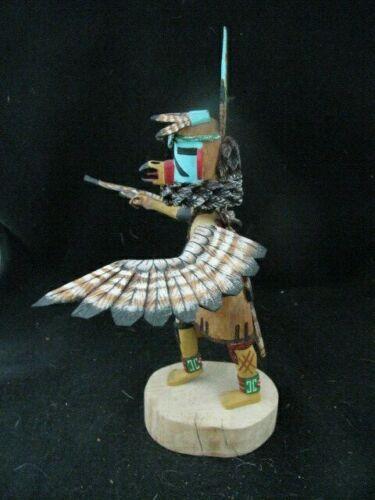 """Hand carved Native American Hopi """"EAGLE"""" (Kwahu) 10"""" Signed Kachina Doll"""