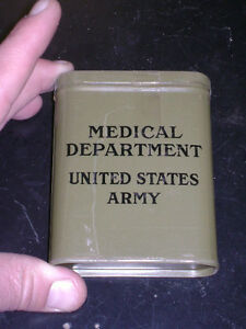 WWII US Army Medical Department First Aid Tin (full)