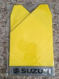 BN Suzuki Rally Yellow Mud Flaps Splash Guards x4