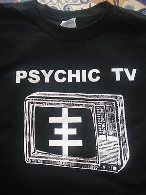 PSYCHIC TV TV LOGO Shirt Choose Your Size S/M/L/XL Original Designs (Logo Tv)