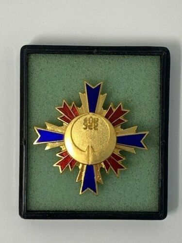 Japanese Unknown Long Distinguished Service Badge Japan w/ Box Town City
