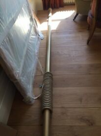 Large Wooden Gold Curtain Poles x 3
