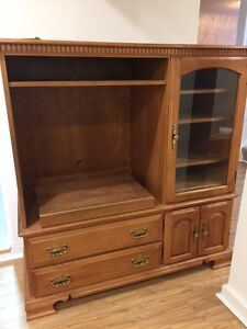 Roxton solid maple TV and stereo cabinet