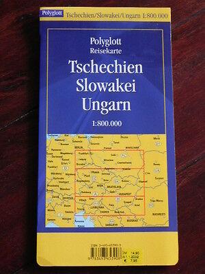 Reisekarte Tschechien Slowakei Ungarn 1:800.000 (Polyglott, 2001)