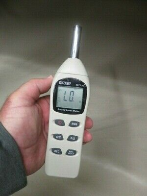 Extech 407730 Digital Sound Level Meter 40-130db Tested Working