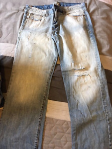 8 pairs mens assorted designer jeans 36w 32L take all 8 for $50.