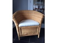 Wicker Chair with cushion seat