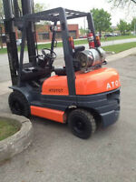 Toyota Forklift Out door tire,3stage Mast with side shift