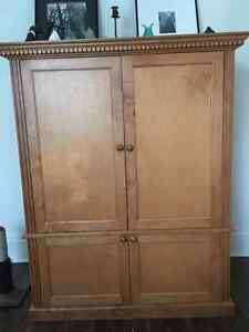 Solid Maple TV Armoire
