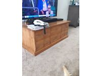 NEXT solid wood chest / coffee table LARGE and heavy 10 drawers, opening top