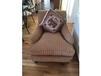 Beautiful re-upholstered antique armchair
