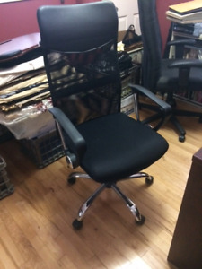 Office Chair with High Mess Back & Adjustable Arms