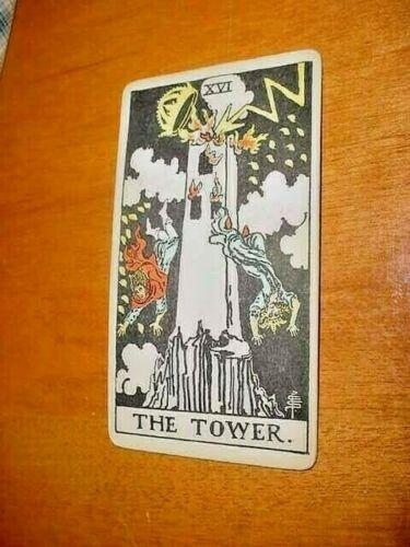 SINGLE VINTAGE TAROT CARD THE TOWER