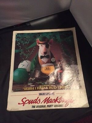 "1987 Vintage Budwiser Beer pack of posters ""Irish I had a Budlight"""
