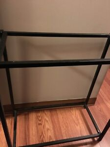 Metal fish tank stand, black, can hold many small tanks,15,10,5