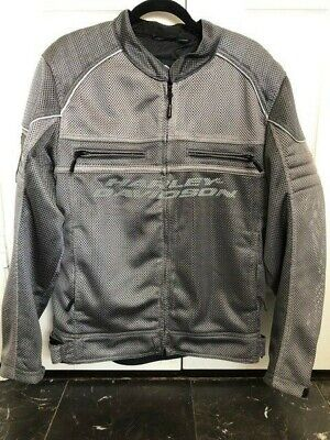 Harley-Davidson Men's Affinity Mesh Riding Jacket, Gray - Large