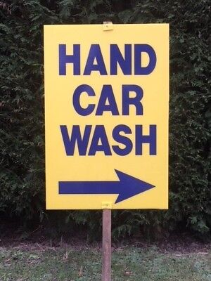 HAND CAR WASH SIGNS PAVEMENT SIGN CAR VALETING SIGN PRINTED WITH YOUR WORDING