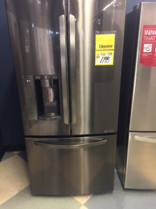 "33"" Black Stainless Steel French Door Refrigerator, 24 cu.ft."