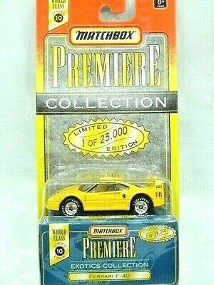 Matchbox Premier Collection Diecast Car Ferrari F-40 w/Box LE 1 of 25,000 NIP