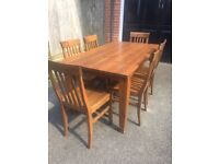 Dining Table & 6 Chairs (wooden)