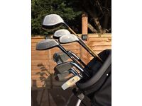 US Kids left handed golf clubs with bag and stand - VERY GOOD CONDITION