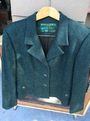 Ladies 2-Piece Jacket & Skirt Kevin & Howlin Wool Dublin Ireland Donegal Tweed