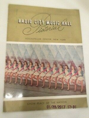 Radio City Music Hall Pictorial Program Book Early 1950s Rockettes Ballet Stage