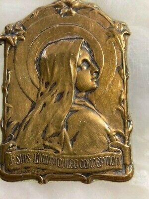 Sylvain Kinsburger Immaculate Conception, brass/bronze on marble