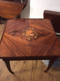 Multi Game table inlaid in precious mahogany Great for Christmas time