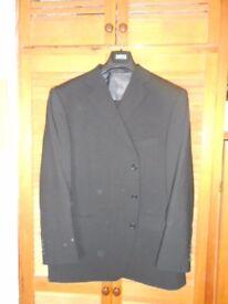 Mans two piece M&S washable black suit.