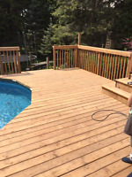 DECK FENCE NEW OR REPAIRS,  LANDSCAPE LIGHTING