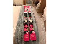 K2 Luv Bugs 124cm girls skis & 4.5 bindings for sale