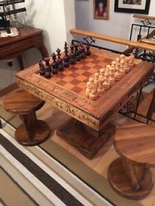 Table de jeux d'échec