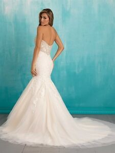Allure Mermaid Swarovski Lace Wedding Dress #9305
