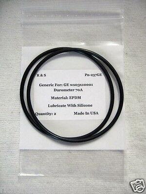 Two R & S O-rings for GE Smart Water WS03X10001, R&S #237GE/EPDM Material