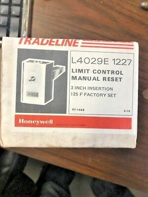 Honeywell Tradeline L4029e1227 High Limit Controller Limit Control Manual Reset