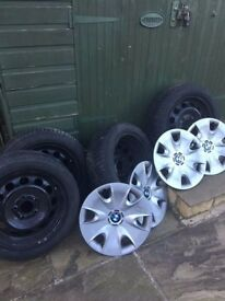 BMW 1 series Goodyear Ultragrip winter tyres, wheels and wheel trims