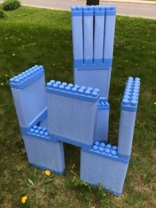 Giant Mega Bloks for building kid structures