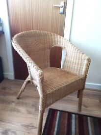 Wicker Chair. attractive and comfortable occasional chair fits anywhere.
