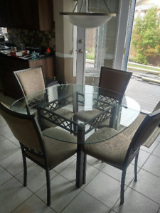 Glass Dinette Table and Four Chairs (REDUCED)