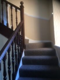 5 bedroomed Victorian terraced family house. Dumfries town Centre, close to all amenities.