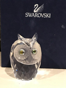 Swarovski - Crystal Owl, Sitting Cat and paper weight