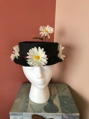 Adults Halloween Costumes Homemade (Mary Poppins Chimney Sweep Hat With Daisies And Cherries. Homemade )