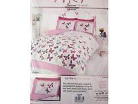 Brand New Single Butterfly Bedding