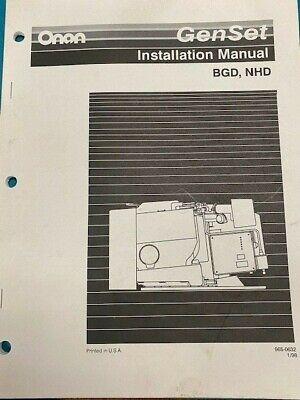 Onan Installation Manual Bgd Nhd - Gensets 965-0632 198