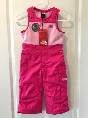 The North Face Toddler Girls Insulated BIB Snow Ski Suit NWT Petticoat Pink](The Pink Petticoat)