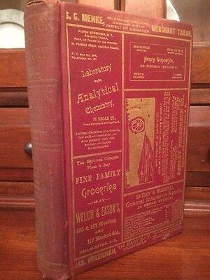 Rare 1888 Charleston City Directory  South Carolina  Illustrated Ads Genealogy