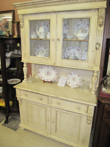 Beautiful Solid wood painted Buffet & Hutch