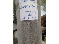 Large silver rug half price